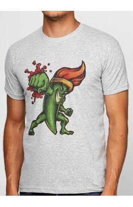 Мужская футболка с принтом Brush Fighter