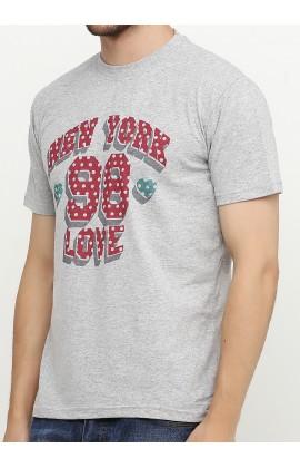 Мужская футболка с принтом Нью-Йорк