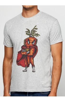 Мужская футболка с принтом  Super Carrot