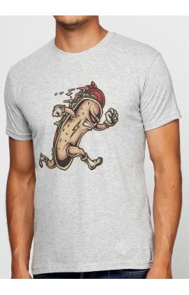 Мужская футболка с принтом Hot dog hero