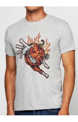 Мужская футболка с принтом Pumpkin Hero