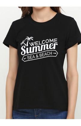 Женская футболка с принтом Велка лето