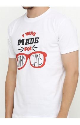 Мужская футболка с принтом Очки