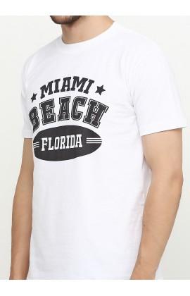 Мужская футболка с принтом Майами тим