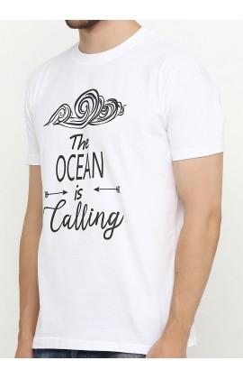 Мужская футболка с принтом Океан зовет