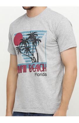 Мужская футболка с принтом Майами пальмы