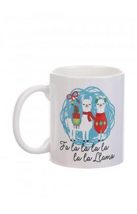 Чашка с принтом Две ламы