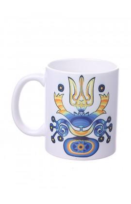Чашка с принтом Герб этно