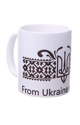Чашка с принтом Герб с любовью