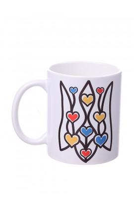 Чашка с принтом Герб сердца