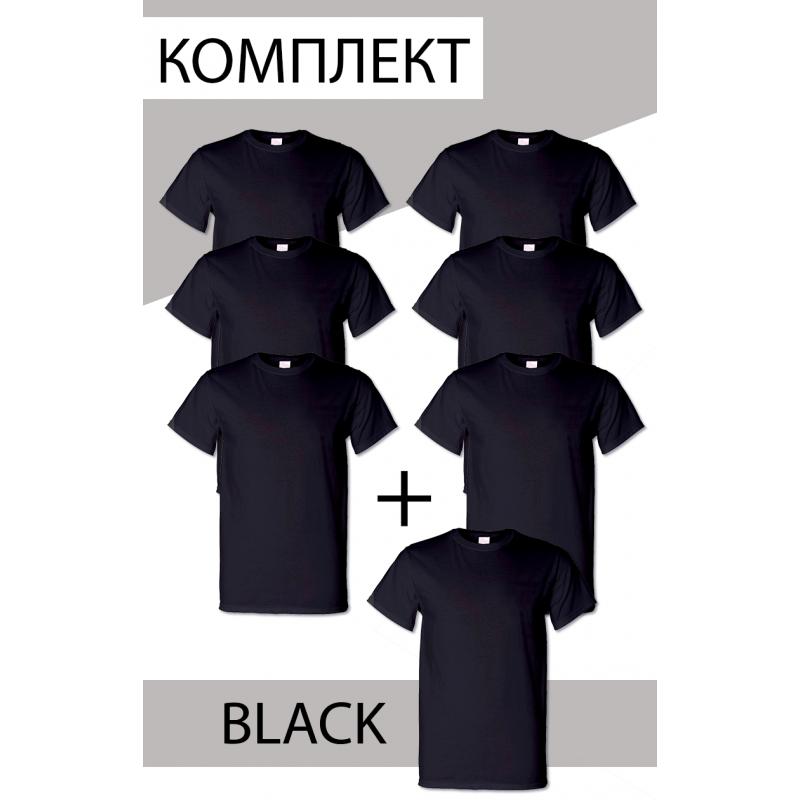 Комплект мужских футболок 7 шт Черные