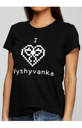 Женская футболка с принтом Вышиванка ж