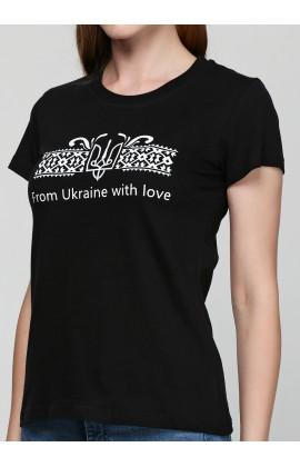 Женская футболка с принтом Герб с любовью