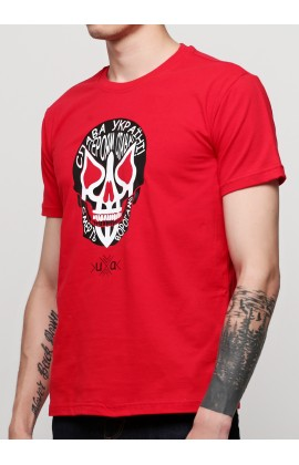 Мужская футболка с принтом Череп слава