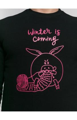 Свитшот с принтом Зима идет